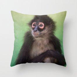 Mimi the Spider Monkey Throw Pillow