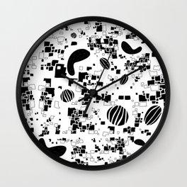 Halcyon Black Wall Clock