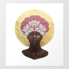 She Blooms: Rose Regal Art Print