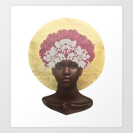 She Blooms: Rose Regal Art Print