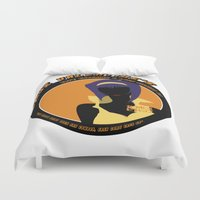 bebop Duvet Covers featuring Bebop Faye by AngoldArts