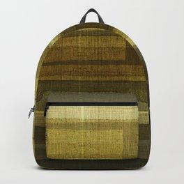 """Burlap Texture Greenery Shades"" Backpack"