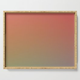 PREMIUM SUNRISE - Minimal Plain Soft Mood Color Blend Prints Serving Tray
