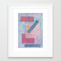 holographic Framed Art Prints featuring holographic by Julia schindler