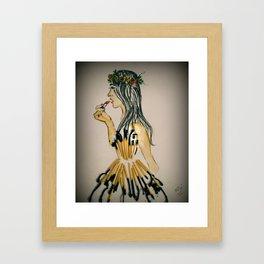 Touch Up..Make Up Framed Art Print