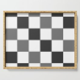 Slate & Gray Checkers / Checkerboard Serving Tray