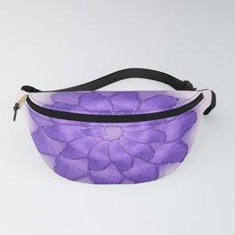 Watercolor purple flower. Fanny Pack