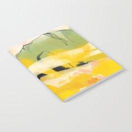landscape abtract - paysage jaune Notebook