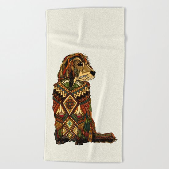 Golden Retriever ivory Beach Towel