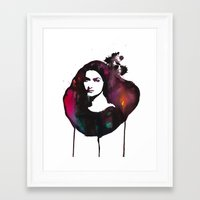 mona lisa Framed Art Prints featuring Mona Lisa by Krista Luney