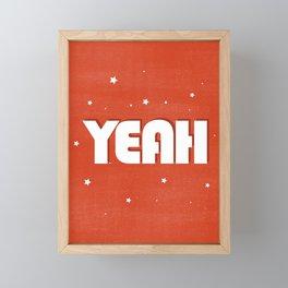 Yeah modern typography Framed Mini Art Print