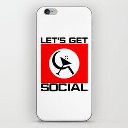Let's Get Social iPhone Skin