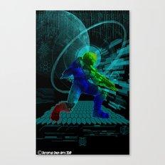 Halo Splash Art Canvas Print