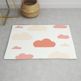 Cloud white and pink Rug