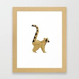 Origami Lemur Framed Art Print