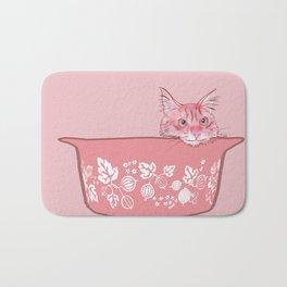 Cat in Bowl #1 Bath Mat