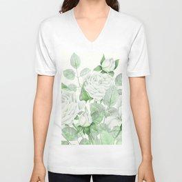Bouquet Of Pastel Green Roses Unisex V-Neck
