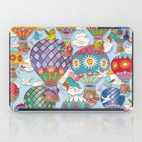 hot air balloon iPad Cases featuring Hot Air Balloon by Helene Michau