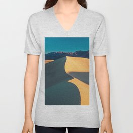 the geometry of death valley light Unisex V-Neck