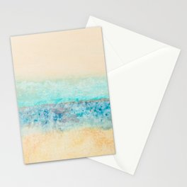 Sea (White/Blue Abstract) Stationery Cards