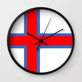 faroe islands country flag Wall Clock