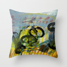 BUFFALO FACTORY  Tricycles Throw Pillow