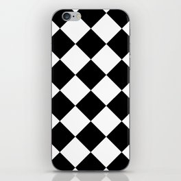 Diamond (Black & White Pattern) iPhone Skin
