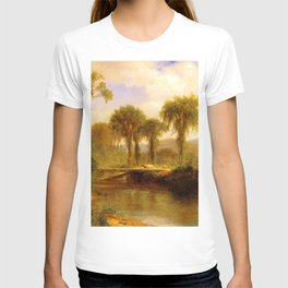 Samuel Colman - Moat Mountain and North Conway Ledges from Artist Brook T-shirt
