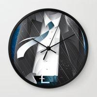 sin city Wall Clocks featuring Sin City-Hartigan by Szoki