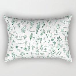 Aromatic herbs Rectangular Pillow