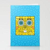 spongebob Stationery Cards featuring Spongebob Voronoi by Enrique Valles