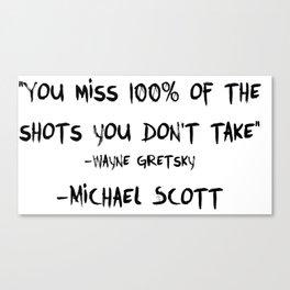 Michael Wayne Gretzky Quote Canvas Print