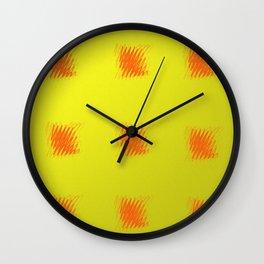 carrés rouges 3 Wall Clock