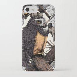 Spectacled Owl iPhone Case