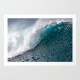 Giant Blue Ocean Wave Art Print