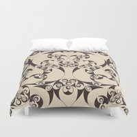 skyrim Duvet Covers featuring Celtic Loops Natural by Astrablink7
