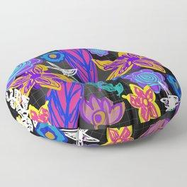 The Insomniac Garden Floor Pillow