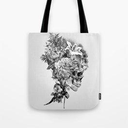 Skull VI BW Tote Bag