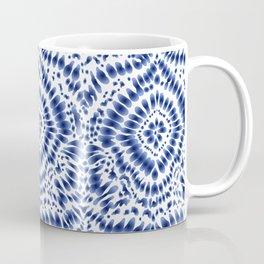 Indigo Blue Tie Dye Textile Pattern Coffee Mug