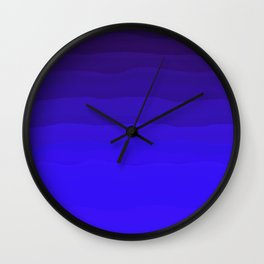 Rich Royal Gradient Ocean Abstract Wall Clock
