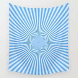 64 Baby Blue Rays Wall Tapestry
