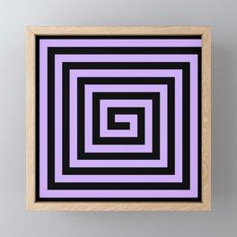 Graphic Geometric Pattern Minimal 2 Tone Big Swirl Zig-Zag (Lavender Purple & Black) Framed Mini Art Print