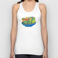 succulents Tank Tops featuring Succulents by Cat Coquillette