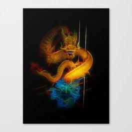 Dragon Fractal Dragon Canvas Print