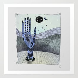 Suspicious Hand Art Print