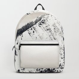 Grey Skies over Snow-Capped Mountains 02 Backpack
