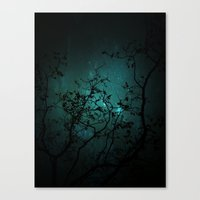night sky Canvas Prints featuring Night Sky by ANNA