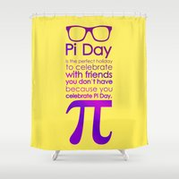 pi Shower Curtains featuring Pi Day by Square Lemon