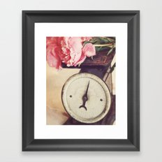 Peony Weight Framed Art Print