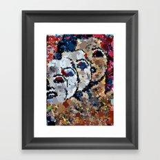 She's A Beautiful Mess Framed Art Print